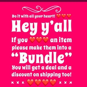 Like some items in my closet? Then bundle them❤️❤️